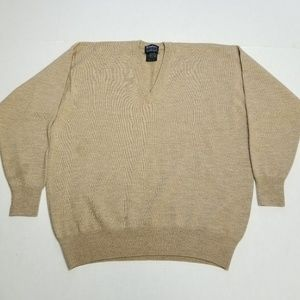 Burberry Vneck tan sweater, Men's XL